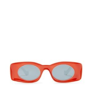 Red Loewe STYLE RETRO Oversized Wide Sunglasses